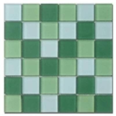 Grün mix matt Glasmosaik Fliese für das Badezimmer Mosaike ...