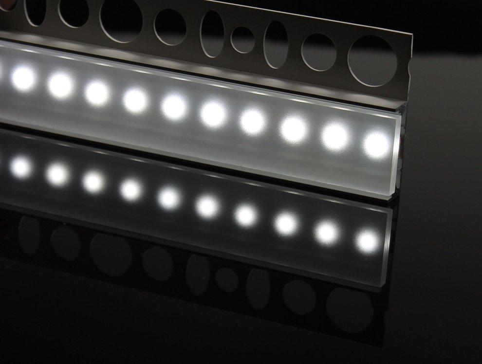 led f r direktes indirektes licht plexyglas klar satiniert f r led beleuchtung 160x3x0 6 cm. Black Bedroom Furniture Sets. Home Design Ideas