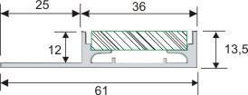 led f r direktes indirektes licht indirekte led beleuchtung f r 1 2 cm dicke fliesen 160 cm lang. Black Bedroom Furniture Sets. Home Design Ideas