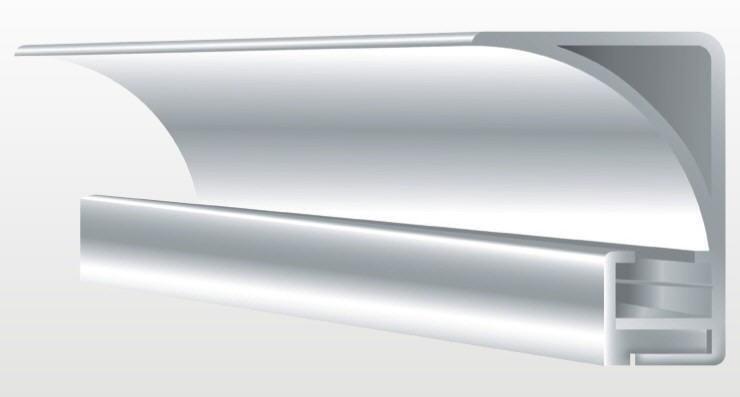 Aluprofil Für Deckenbeleuchtung 50 Mm Hoch Eloxiert Oder Weiß Eckig
